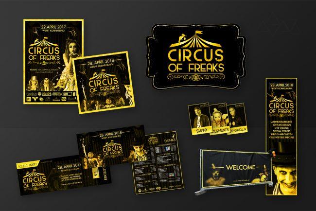 Grafikdesign Circus of Freaks - Grafikdesign - Feelon Media&Entertainment - Event & Werbeagentur