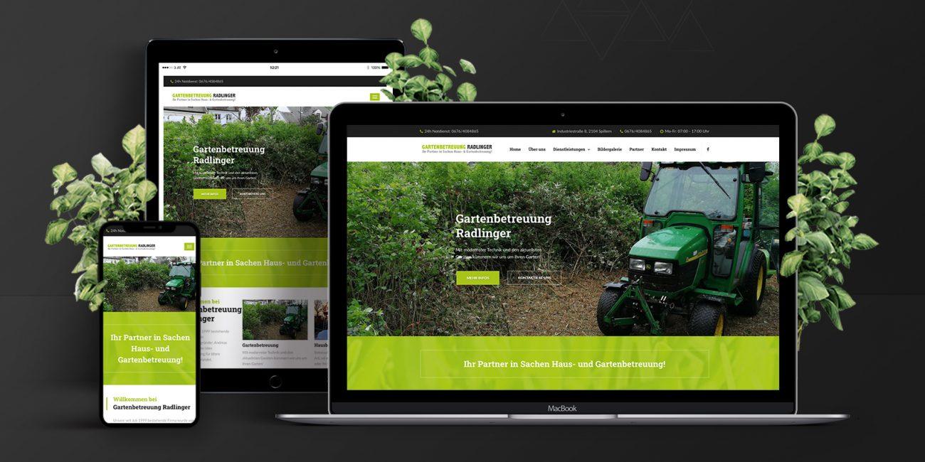 Webdesign Gartenbetreuung Radlinger