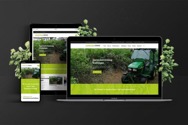 Webdesign & Website - Gartenbetreuung-Radlinger