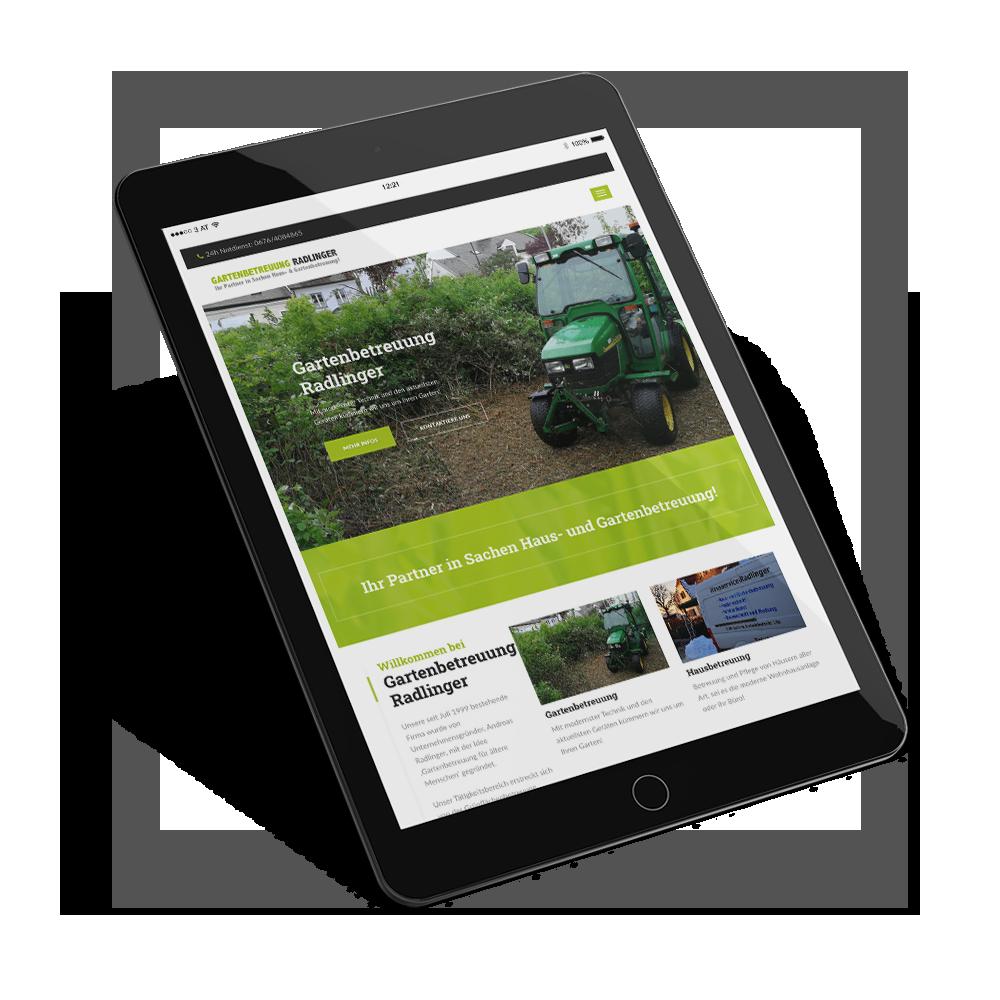 Webdesign & Website - Tablet