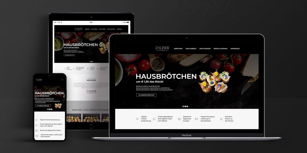 Webdesign Zauner Catering