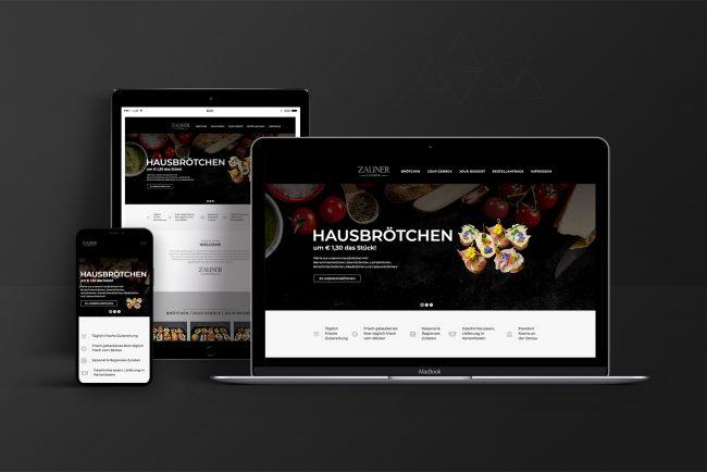 Webdesign & Website - Zauner-Catering