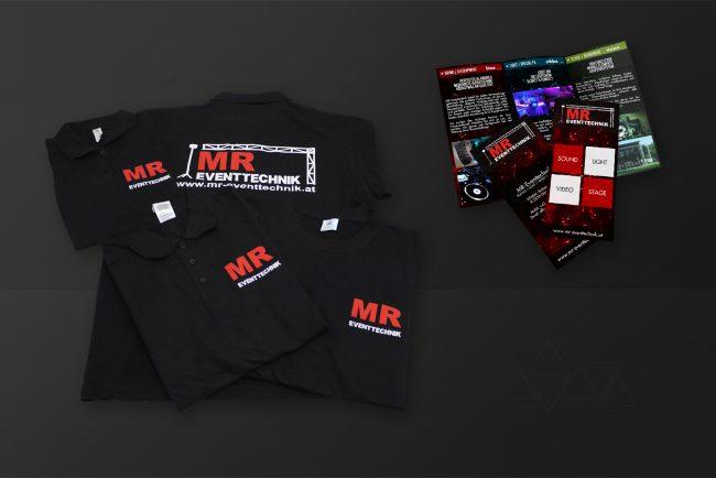 Werbemittel Tshirts Folder - Grafikdesign - Feelon Media&Entertainment - Event & Werbeagentur
