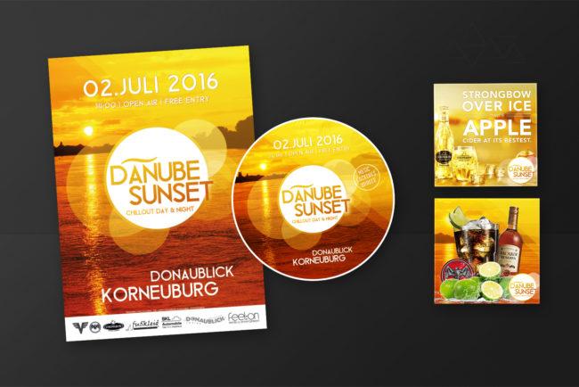 Grafikdesign DanubeSunset - Grafikdesign - Feelon Media&Entertainment - Event & Werbeagentur