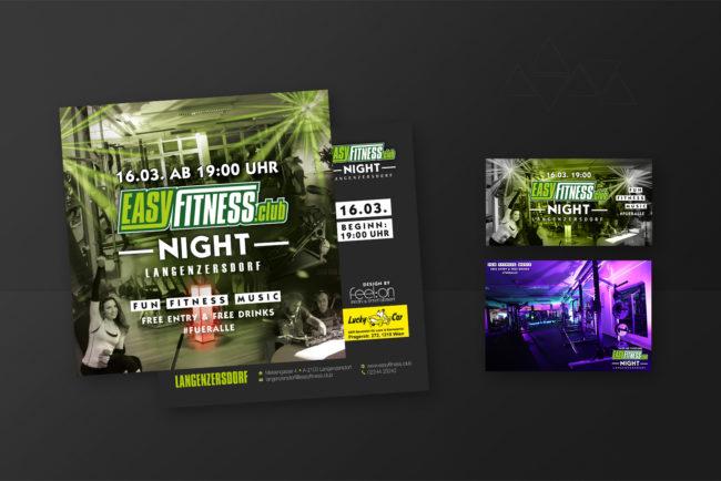 Grafikdesign EasyfitnessclubNight - Grafikdesign - Feelon Media&Entertainment - Event & Werbeagentur