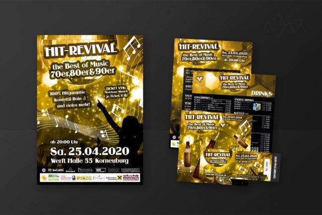 Grafikdesign HitRevival - Grafikdesign - Feelon Media&Entertainment - Event & Werbeagentur