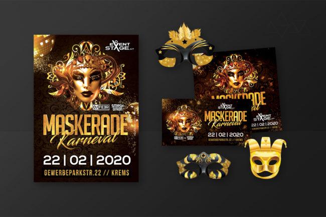 Grafikdesign MaskeradeKarneval - Grafikdesign - Feelon Media&Entertainment - Event & Werbeagentur